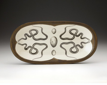 Laura Zindel Leopard Snake Fish Platter