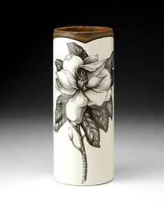 Laura Zindel  Magnolia Blossom Small Vase Blue