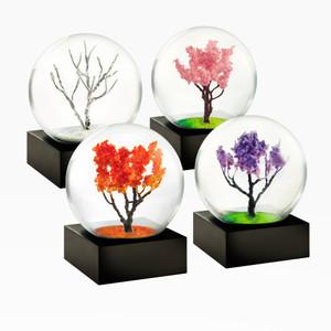Seasons Small Snow Globe Purple