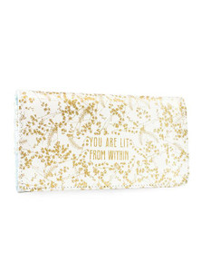 Papaya White Gilded Flowers TriFold Wallet