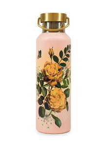 Papaya Wander Bottle Yellow Roses