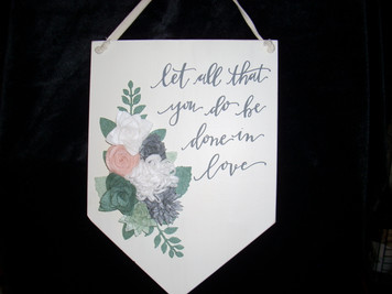 Done in Love Wall Decor