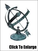 Aluminum Armillary Sundial