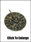 Brass Grapevine Sundial