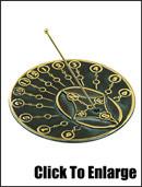 Brass Modern Times Sundial