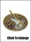 Brass Cherub Sundial