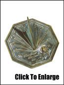 Brass Rose Sundial