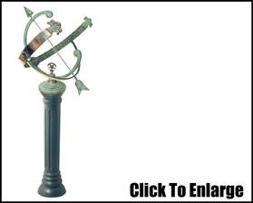 Pillar Cast Iron Sundial Pedestal