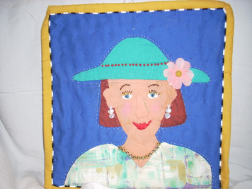 Applique Women's Face