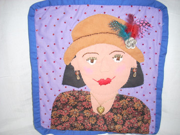 Applique Face Hanging 7