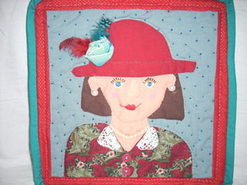 Applique Face Wall Hanging 8