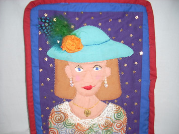 Applique Face Wall Hanging 9
