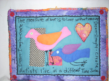 "Applique Wall Hanging ""Measure of Love"""