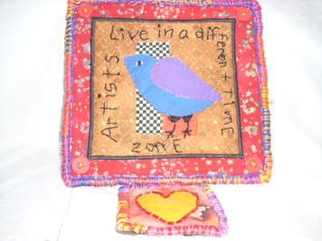 "Applique Wall Hanging ""Love in a"""
