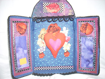 Cloth Heart  Shrine Large Wall Hanging
