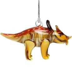 Glassdelight Ornament Triceratop
