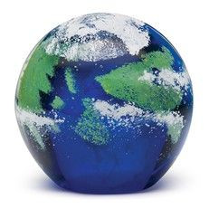 Large Paperweight Earth Glow