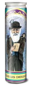 Charles Darwin Secular Saint Candle