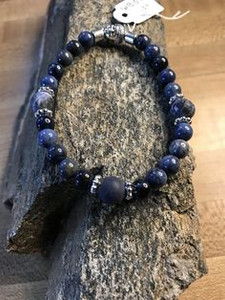 Natural Blue Sodalite Bracelet