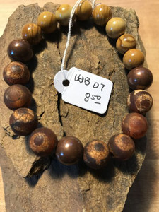 Jasper, Tibetan Mystical Agate, and Copper Bracelet