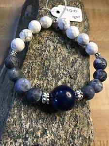 Sodalite, White Turquoise, Silver