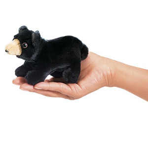 Folkmanis Mini Finger Puppet Black Bear