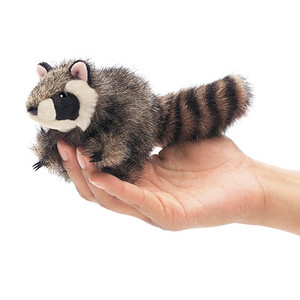 Folkmanis Mini Finger Puppet Raccoon