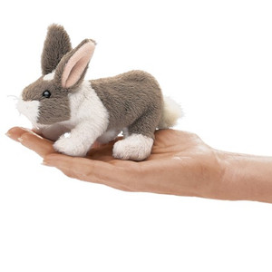 Folkmanis Mini Finger Puppet Bunny Rabbit