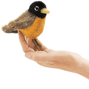 Folkmanis Mini Finger Puppet Robin