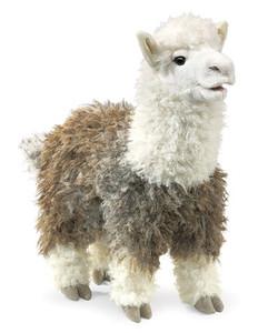 Folkmanis Puppet Alpaca