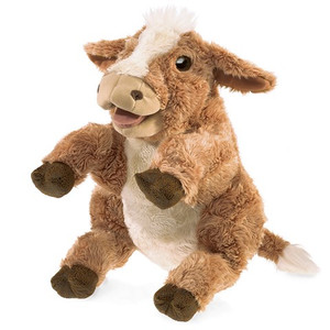 Folkmanis Puppet Brown Cow