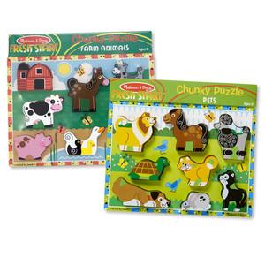 Melissa & Doug Chunky Jigsaw Puzzle Pets