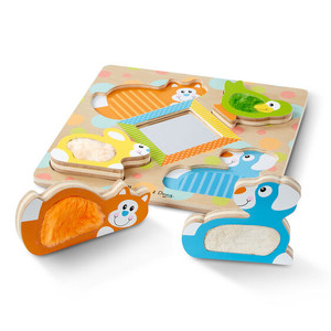 Melissa & Doug First Play Peek-A-Boo Touch and Feel Puzzle