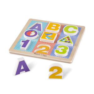 Melissa & Doug First Play ABC=123 Chunky Puzzle
