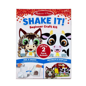 Melissa & Doug Shake It! Farm Animals Beginner Craft Kit