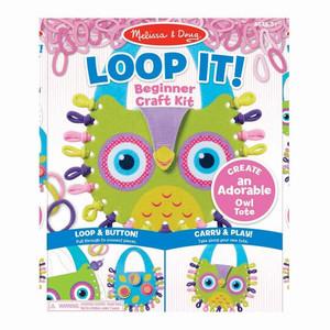 Melissa & Doug Loop It Beginner Craft Kit Owl Tote