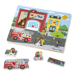 Melissa & Doug Around the Fire Station Puzzle