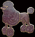 Poodle Pin