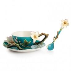 Franz Van Gogh Almond Flower cup/saucer/spoon Set