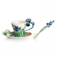 Franz Van Gogh Iris Flower cup/Saucer/Spoon Set