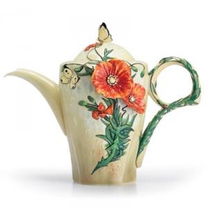 Franz Van Gogh Poppy Flower Teapot
