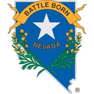 "Nevada Shaped Battle Born Vinyl Decal 6"""