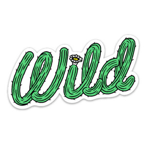 Keep Nature Wild Cactus Wild Sticker