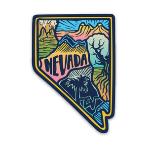 Keep Nature Wild Nevada Love Sticker