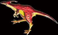 Red Parasaur Pin