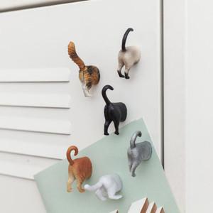 Cat Butt Magnets, Set of 6