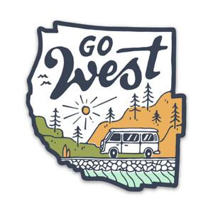 Keep Nature Wild West Coast Adventure Sticker