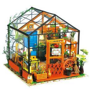 Handcrafts Cathy's Flower House DIY Miniature Dollhouse Kit
