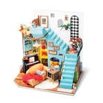 Handcrafts Joy's Living Room DIY Miniature Dollhouse Kit
