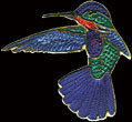 Fiery Hummingbird Zipper Pull